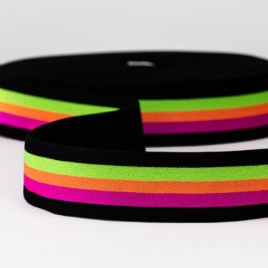 Elástico Viena 40- Cor Neon Colors - Indusfios Distribuidora