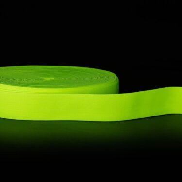 Viena - Faixa para Chapeu Panama - amarelo-fluorescente